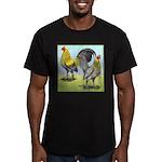Lemon Blue OE Pair Men's Fitted T-Shirt (dark)