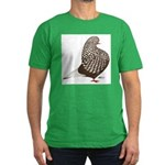 Brown Teager Pigeon Men's Fitted T-Shirt (dark)