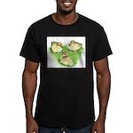 Snowy Mallard Ducklings Men's Fitted T-Shirt (dark