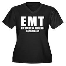 EMT Duty Shirts Women's Plus Size V-Neck Dark T-Sh