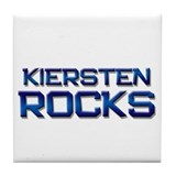 kiersten rocks Tile Coaster