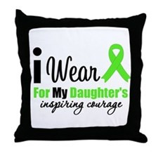LymphomaCourageDaughter Throw Pillow