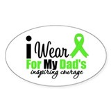 Lymphoma Courage Dad Oval Decal
