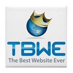 TBWE - The Best Website Ever Tile Coaster