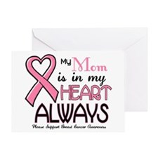 In My Heart 2 (Mom) PINK Greeting Card