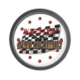 Warning! Sprint Car Fanatic! Wall Clock