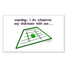 Dulcimer Rectangle Decal
