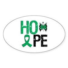 Liver Cancer Hope Oval Decal