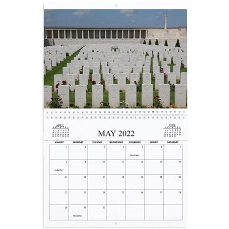 Travel Notes Wall Calendar - May