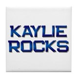 kaylie rocks Tile Coaster