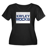 kayley rocks Women's Plus Size Scoop Neck Dark T-S