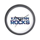 katelynn rocks Wall Clock