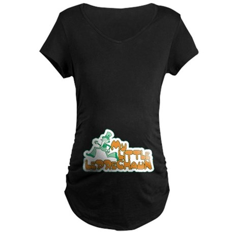My Little Leprechaun Maternity Dark T-Shirt