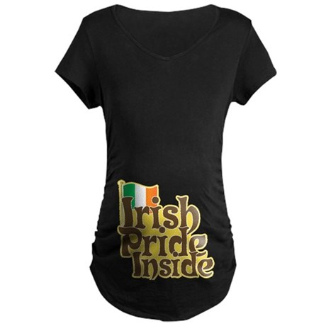 Irish Pride Inside Maternity Dark T-Shirt