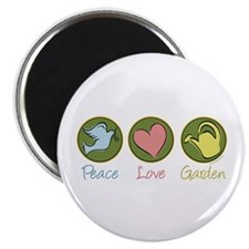 "Peace Love Garden 2.25"" Magnet (100 pack)"