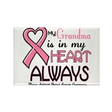 In My Heart 2 (Grandma) PINK Rectangle Magnet