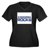 kasandra rocks Women's Plus Size V-Neck Dark T-Shi