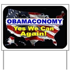 Obamaconomy-blue Yard Sign