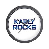 karly rocks Wall Clock