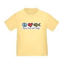 Peace, Love, Fishing T
