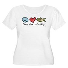 Peace, Love, Fishing T-Shirt