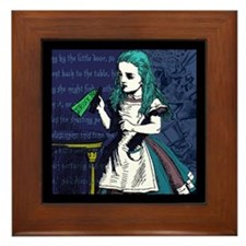 Drink Me Framed Tile
