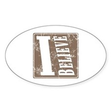 Christian Oval Decal