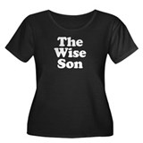 The Wise Son Women's Plus Size Scoop Neck Dark T-S