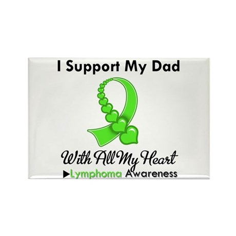 Lymphoma Support Dad Rectangle Magnet (100 pack)