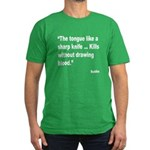 Buddha Sharp Tongue Quote Men's Fitted T-Shirt (da