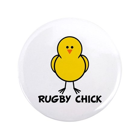 """Rugby Chick 3.5"""" Button"""