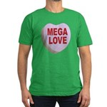 Mega Love Valentine Candy Hea Men's Fitted T-Shirt