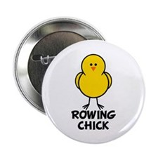 "Rowing Chick 2.25"" Button (10 pack)"