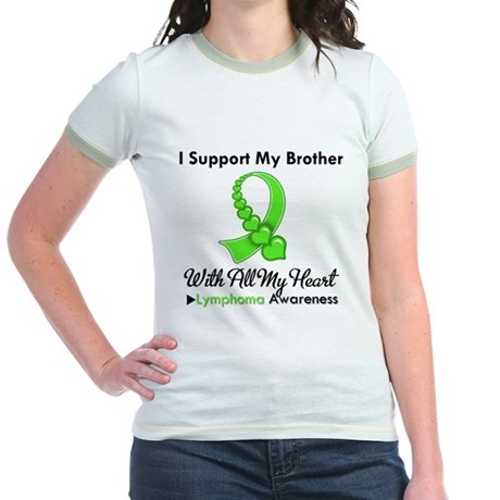 LymphomoaSupportBrother Jr. Ringer T-Shirt