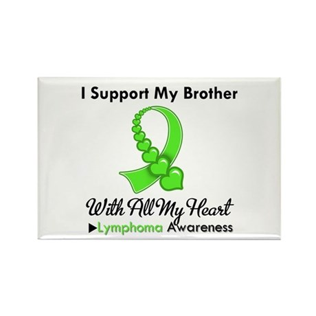 LymphomoaSupportBrother Rectangle Magnet (10 pack)