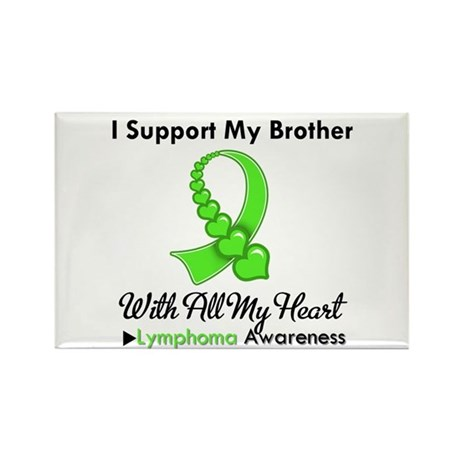 LymphomoaSupportBrother Rectangle Magnet (100 pack