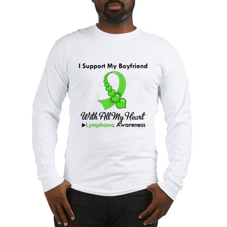LymphomaSupportBoyfriend Long Sleeve T-Shirt