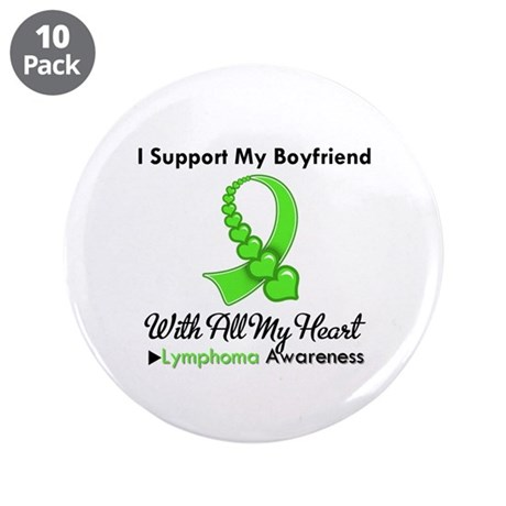 "LymphomaSupportBoyfriend 3.5"" Button (10 pack)"