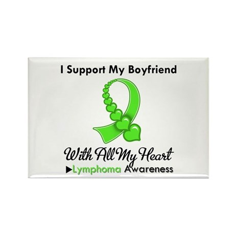 LymphomaSupportBoyfriend Rectangle Magnet