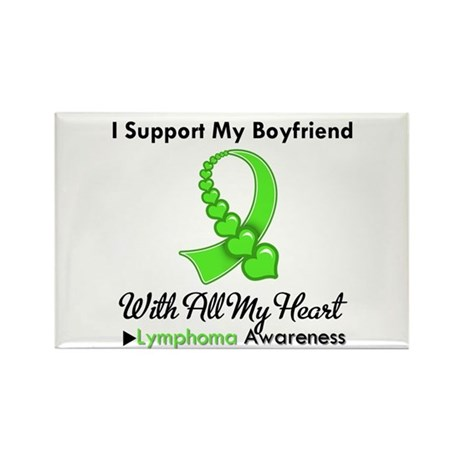 LymphomaSupportBoyfriend Rectangle Magnet (100 pac