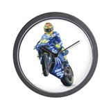 Racing Biker #2 Wall Clock