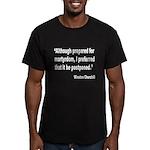 Churchill Martyrdom Quote Men's Fitted T-Shirt (da