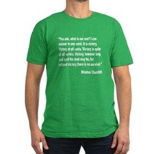 Churchill Victory Quote T