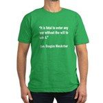 MacArthur Will to Win Quote Men's Fitted T-Shirt (