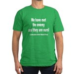 We Have Met the Enemy Quote Men's Fitted T-Shirt (