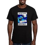 Somebody Blabbed Gossip Men's Fitted T-Shirt (dark