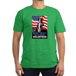 Don't Wait to Volunteer Men's Fitted T-Shirt (dark