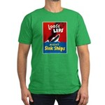 Loose Lips Sink Ships Men's Fitted T-Shirt (dark)