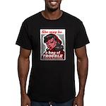 No Bad Evil Women Men's Fitted T-Shirt (dark)