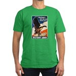 Victory Eagle Poster Art Men's Fitted T-Shirt (dar
